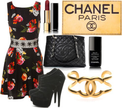 pinktanxo:  chanel paris by rawrreynee featuring chanel nailpolish