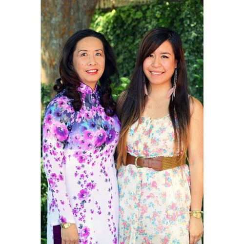 Mommy & daughter on Mother's Day. thanks @vuu_bui for the lovely pictures!!  (at St. Martin Church)