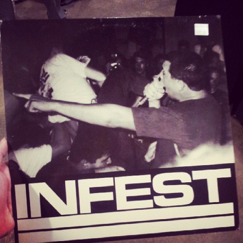 ingrindwetrust:  A good find at the record store. Infest live. #powerviolence #vinyl #records #infest