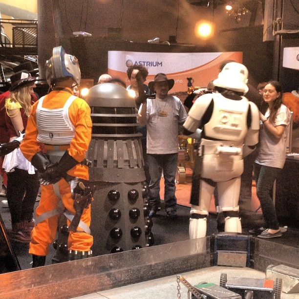 One day a #dalek met a #stormtrooper and a #rebelfighter #shitgotreal #makerfaire