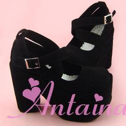 bombisbomb:  Chunky Black Dolly Heels $54.98