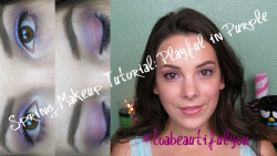 Spring Makeup Tutorial: Playful in Purple @toabeautifulyou Click the picture to take you to a full list of products used in this look