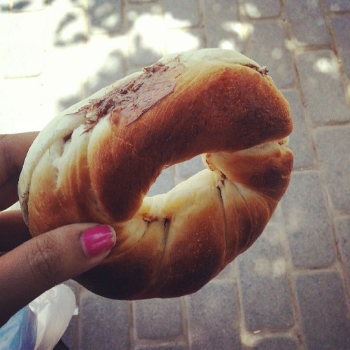 Nutella Simit was so yum!! #Istanbul #streetfood