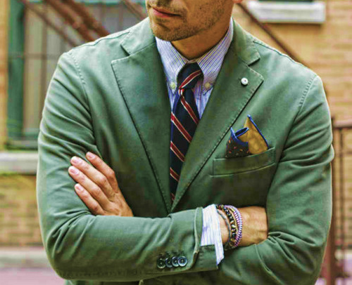 touchofstyle:  Green jacket