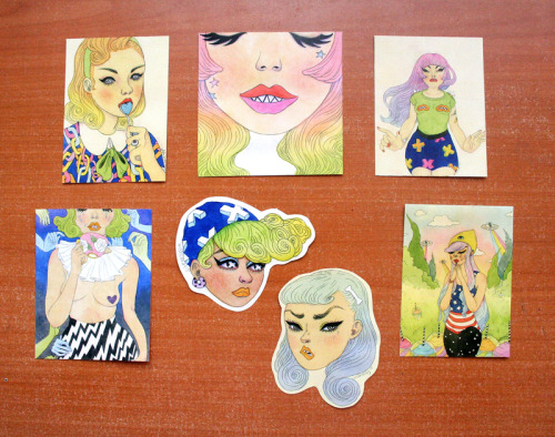 wishcandy:  holagatosaurio:  New stickers by Wishcandy! Get a sugar high of rad babes with these pack!  The day has finally come! A new collection of stickers you can get your sugar fix with. Tote these bitchin' babes around town like a badge of honor! You wereee patiently waiting around for more stickers right? Duh, i knew you were! Snag em' now so you can proudly show off to your friends. Because that's totally fun.