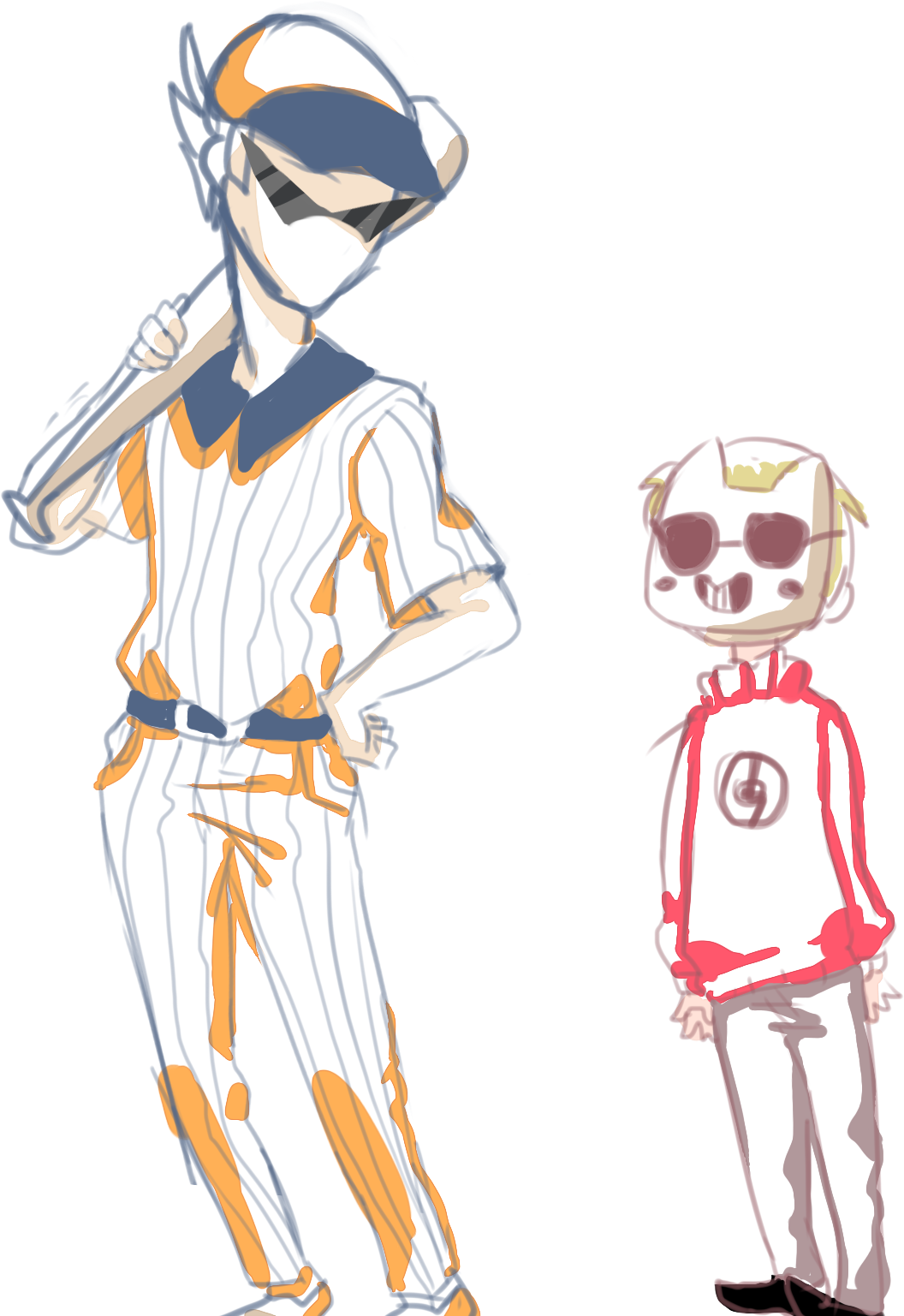 cookiebootyart:  what if zacharie was  like really shortor the batter was just pretty tall