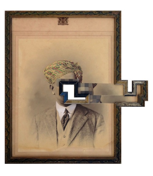 art-blag:  Nandan GhiyaThe Dreamer 2Acrylic on Old Photograph and Wood Frame19 x 18 inches2012