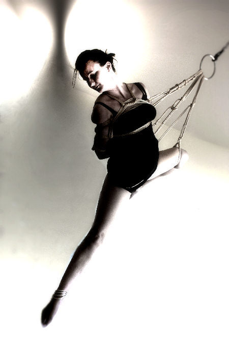 Shibari with rope model Kitty Deluxe
