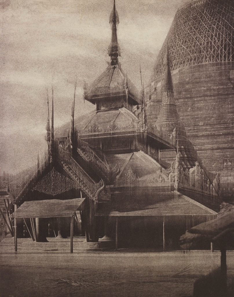 "les-sources-du-nil:  Linnaeus Tripe (1822-1902) ""South Tazoung of the Shwe Dagon Pagoda"". Rangoon, Burma, 1885"