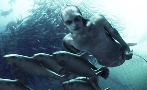 Did Humans Evolve in the Oceans at Some Point? We human beings have some strange characteristics which set us aside from the other primates: We no longer have fur although we still have as many hairs as a chimpanzee. Our hair is fine and lays in a streamlined pattern in the water. We have a layer of fat under our skin like a seal whereas no other primate has this adaptation. We have webbed feet and hands. Infant human beings will instinctively hold their breath under water. Human beings cry salt tears unlike any other primate. Salt is a rare and precious thing in the wild and salt tears would be wasteful. We sweat to cool our bodies. This uses a lot of water.  If we evolved on the parched  savannas of Africa why evolve such wasteful manner of cooling ourselves? The human larynx has descended into the throat like a sea lion and other aquatic mammals. This allows deep breaths and a longer period of breath holding.