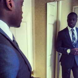 You gotta check yourself out before you step out in the world. #Suits #BlackMenWithStyle