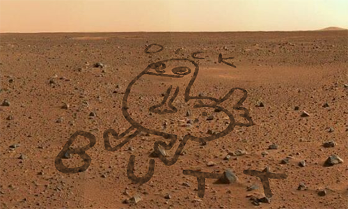 topherchris:   NASA's Mars Rover Drew a Penis on the Surface of Mars (real version)