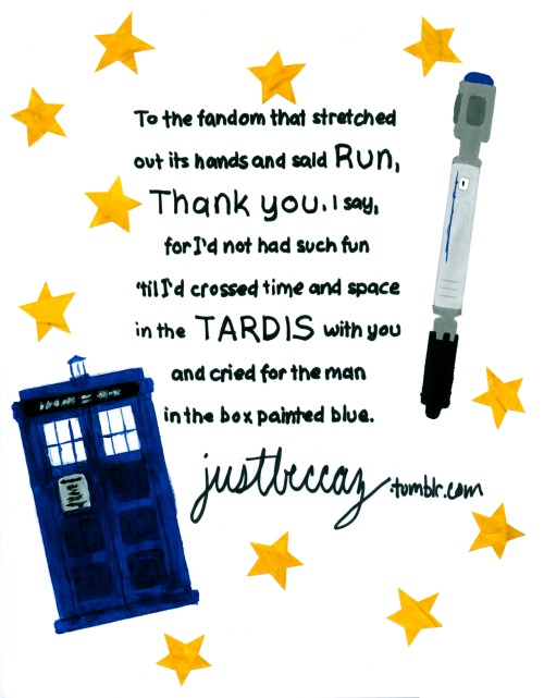 justbeccaz:  the doctor who tumblr asked for my autograph, and here it is, along with a poem and some fan art :)