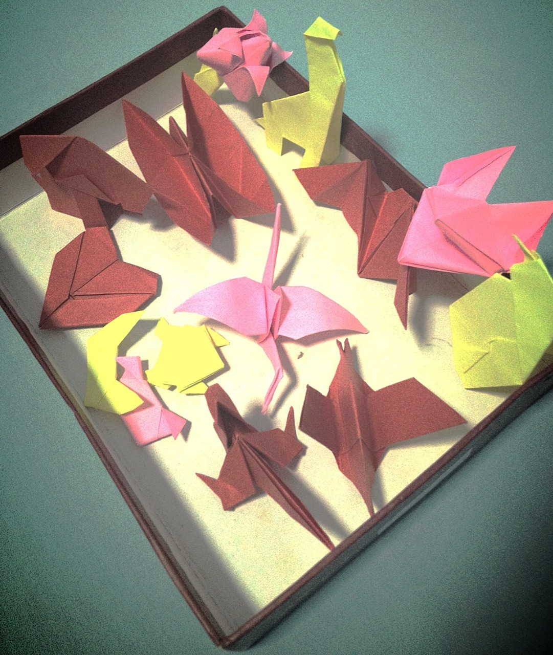 Having my very own origami party. :)
