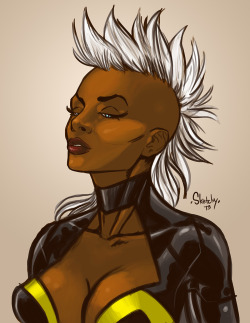 Storm by ~SketchyMcDrawpants —-x—- More: | Marvel | Random |