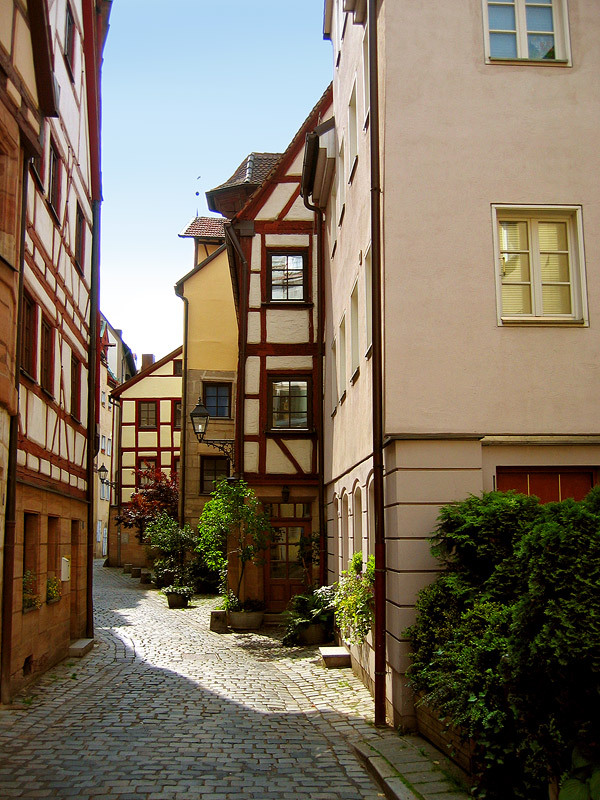Side Street in Nuremberg  | by © sodra | via evysinspirations