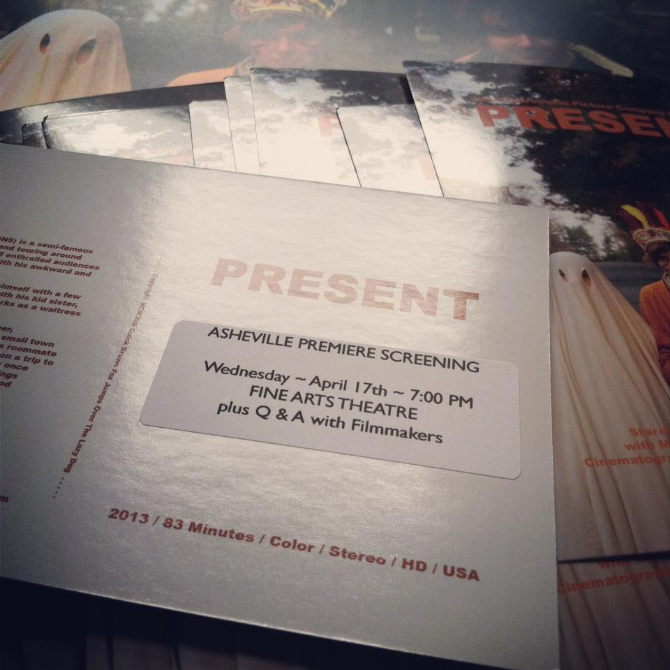 Some promotional materials from last week's premiere of our movie Present. Coming soon to the Internet and DVD, and anywhere else that would have it.