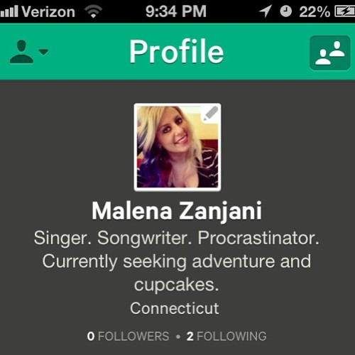 Follow me on #vineapp!