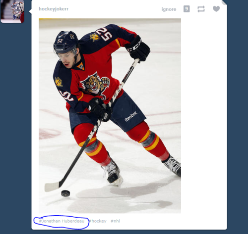 I am 100% sure that this is not Jonathan Huberdeau.