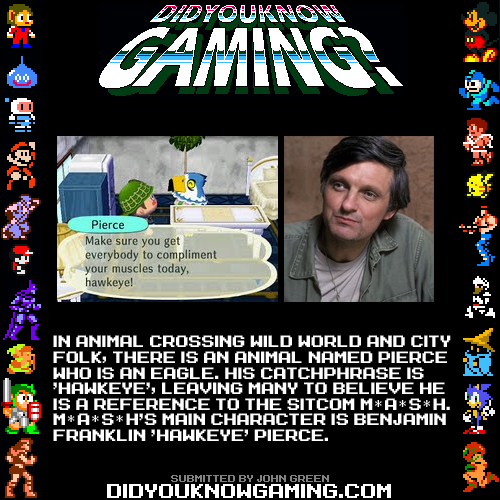 didyouknowgaming:  Animal Crossing. http://animalcrossing.wikia.com/wiki/Pierce