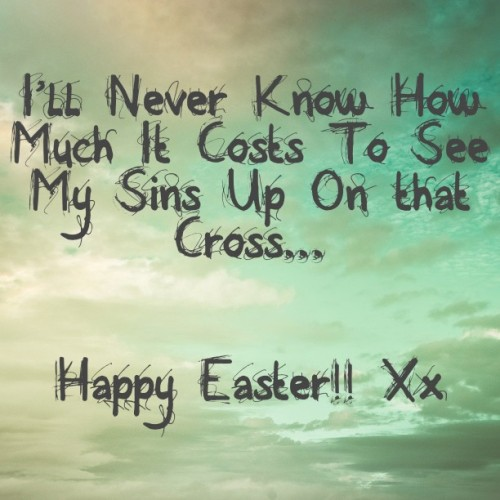 Happy Easter Guys!! Lets not forget the reason for This Weekend… Jesus… God Bless. Xx #Easter #jesusisthereasonfortheseason #Jesus #Cross