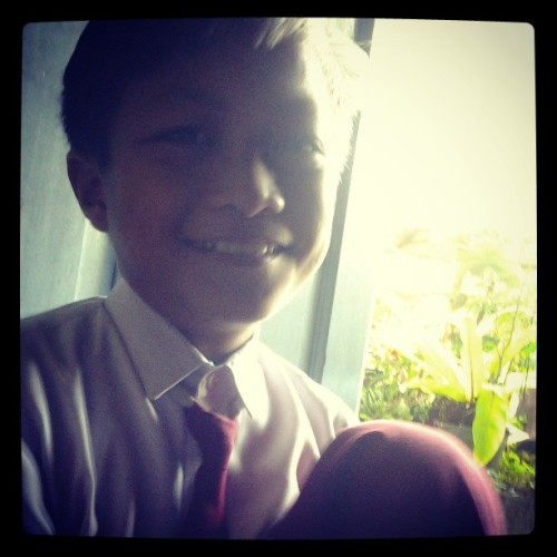 #littlebro #beforegotoschool #instatoday ;;))