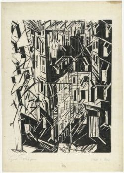 german-expressionists:  Lyonel Feininger, Street in Paris (Strasse in Paris), 1918
