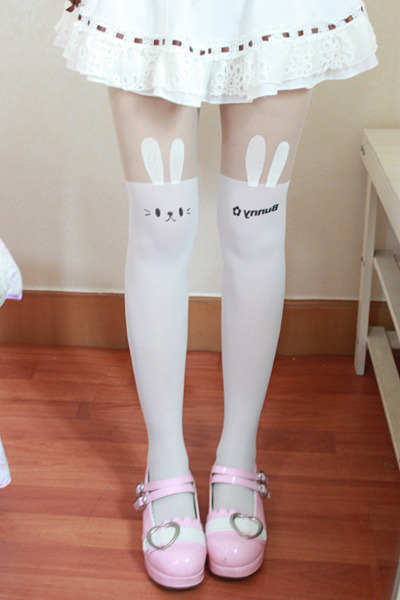 shop-cute:  Bunny Tights (Choose Color) $17.00 Use the code PASTELCUTIE at checkout for 10% off! ♥