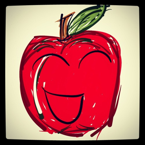 Happy Apple is Happy!   Drawn with Paper, edited in Instagram.