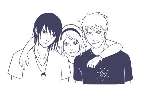 I love them❤ #naruto#sasuke#sakura