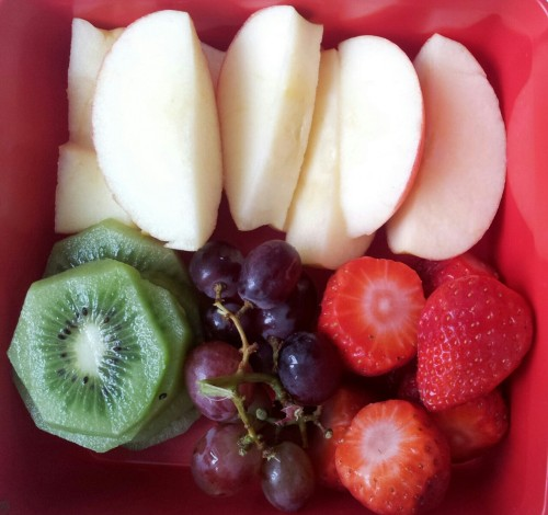 "sherry-blossom:  Delicious healthy snack box for the movies. Watching ""The Great Gatsby"" :)"