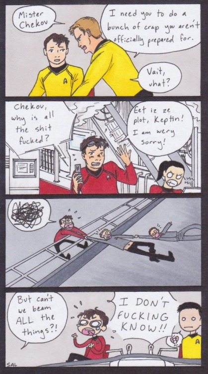 Star Trek XII: Chekov Develops An Ulcer    D'awh!  Baby!!