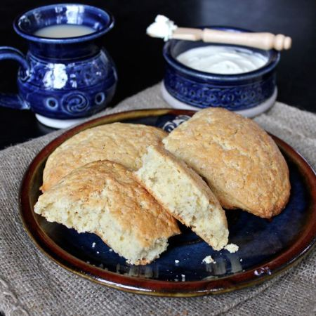Irish Coffee Scones with Whiskey Butter