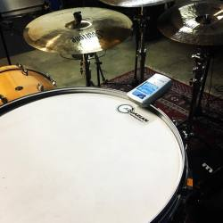 Tuning up, to lay it down.#gretschdrums #soultonecymbals #vicfirthdrumsticks #beierdrums #aquariandrumheads #tunebotdrum #overtonelabs #futuresonics #soultoneartist