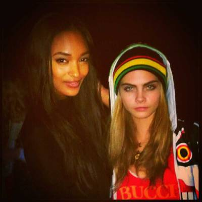 Jourdan Dunnand Cara Delevingneout in London on Saturday…