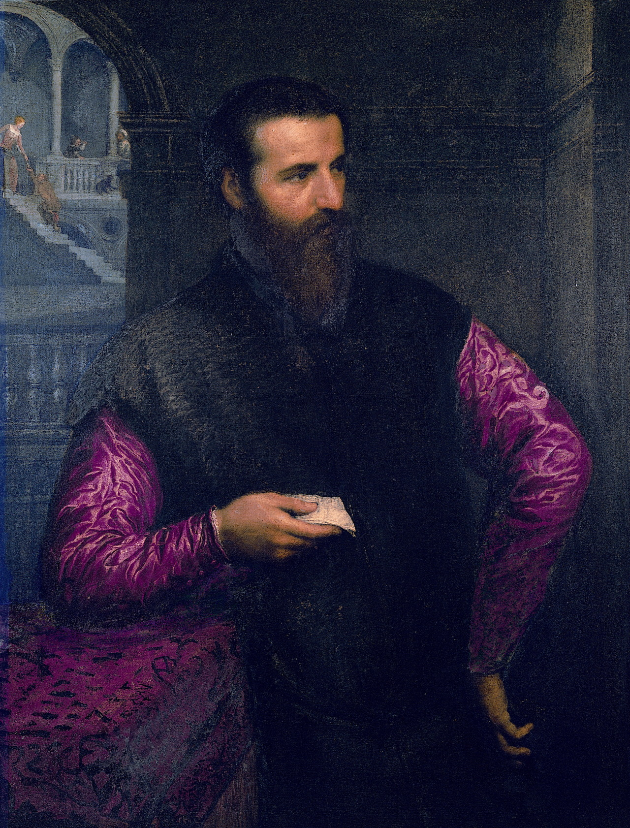 necspenecmetu:  Paris Bordone, Portrait of a Man with Red Sleeves, 16th century