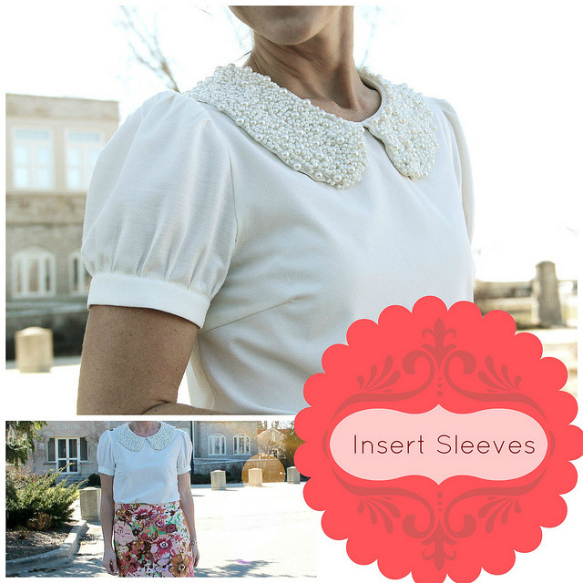 littlecraziness:  (via KRISTINA J.: How To Insert Sleeves Into a Sleeveless Top)