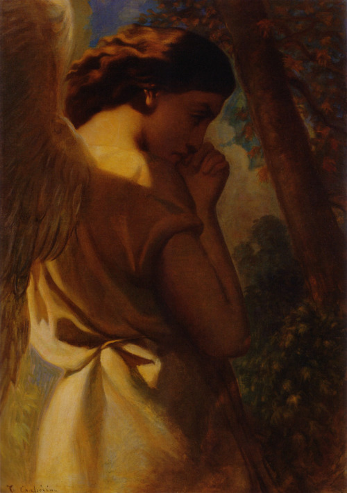 cavetocanvas:  Théodore Chassériau, The Angel, c. 1840