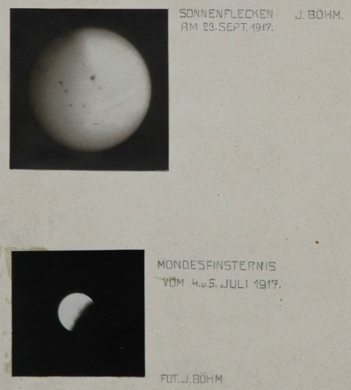 Sunspots and Lunar Eclipse by Jan Böhm, 1917Also