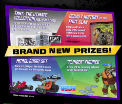 There are BRAND NEW prize on Turtles vs Foot: Join Now! http://www.turtlesvsfoot.com