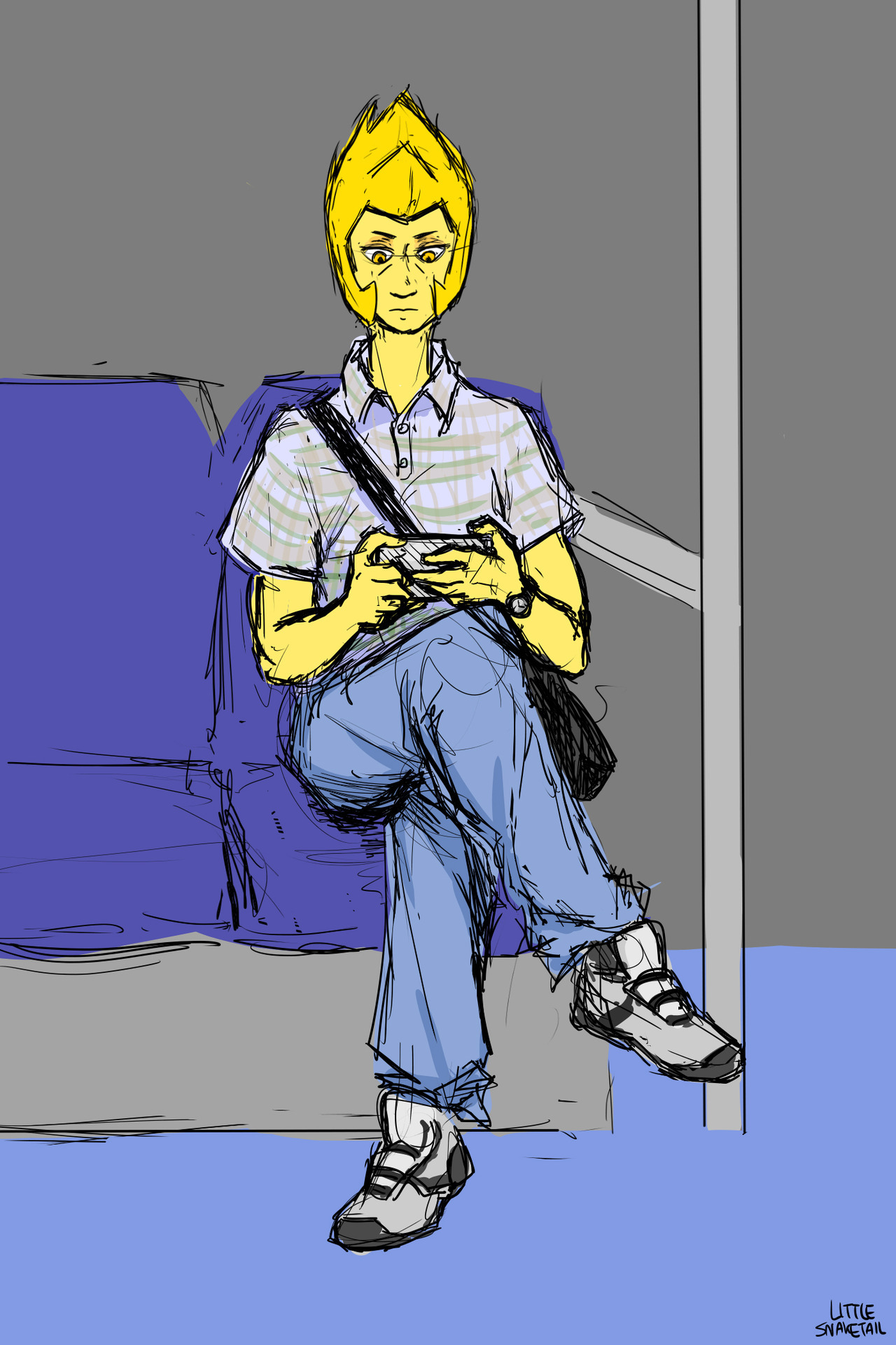 Yellow Diamond dressed as some dude I saw on the subway two days ago… because why not