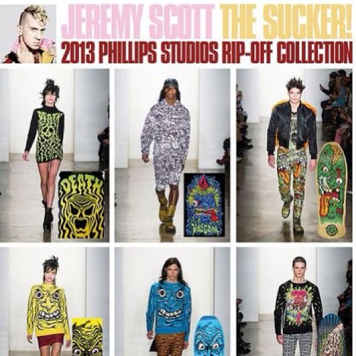 So lame people like #jeremyscott have to basically steal others artwork and try to pass it off as original. I hope his ass gets sued once and for all