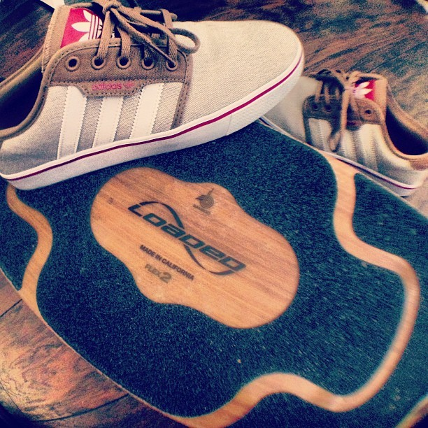 Picked up some #freshkicks at @indexskateshop #adidas #loaded