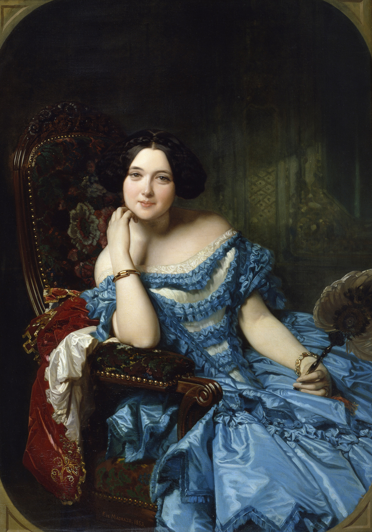 ld-blancol:  Countess of Vilches by Federico Madrazo (1853)