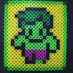 #Chibi #Hulk #TableCoaster #perlerbeads #crafts #beads