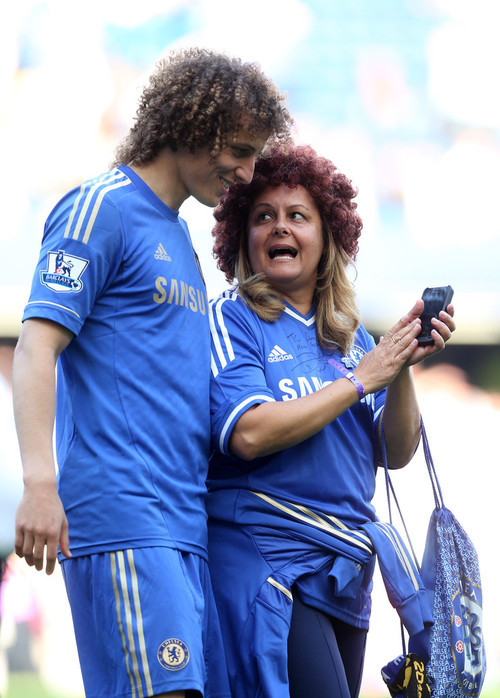David Luiz & his mother, 19 May 2013