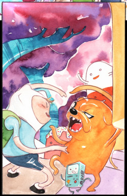 duss005:  betcha didn't know i did a short Adventure Time story for BOOM! written by my good buddy Bryce Carlson, drawn and painted by me ALSO- the awesome issue also features a story written AND DRAWN by my partner in lil gothams crime- Derek Fridolfs. kinda rocks, comes out tomorrow. my first interior work outside of DC in over 10 years! http://boom-studios.com/adventure-time-annual-1-cover-b.html