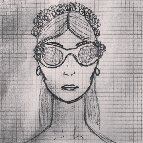 Little doodles during a boring class… #sketch #fashion #sunnies #roses #floralsunnies #sunglasses #andytruong #blackandwhite #killingtime #drawing #spring #summer #ss14 #ss13 #flower #doodles #model #australiandesigners #australianfashion  (at www.andytruongworld.tumblr.com)