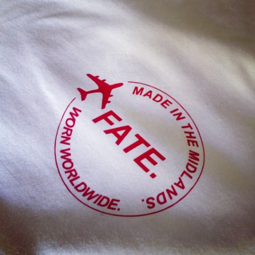 Made in the Midlands. Since 2011. #fate #tshirt #midlands #print #red #white #press #preview #fashion #bmx #skate #screen #guy #girl