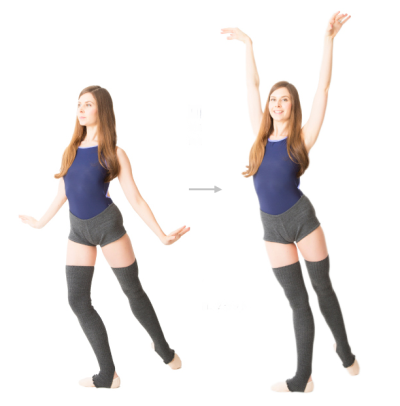 Mary Helen Bowers demonstrating a Ballet Beautiful Tendu Lift with Swan Arms.